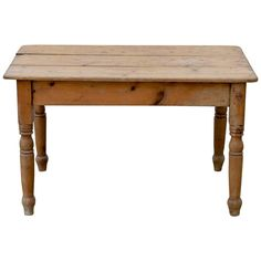 Shop farm tables and other modern, antique and vintage tables from the world's best furniture dealers. Vintage Farm, Vintage Table, Pine Furniture, Cool Furniture, Rustic Aprons, Pine Table, Hearth And Home, Cabin Ideas, Wood Work