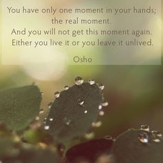 #OSHO #oshointernational #oshoquotes #iOSHO #meditation #onemoment #realmoment
