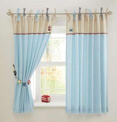 Idea para hacer una cortina lisa y aprovechar retales para decorarla ...
