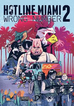 The beautiful Italian-language comic volume from Dayjob Studio is for sale on their site! http://dayjobstudio.bigcartel.com/product/hotline-miami-2-wrong-number …