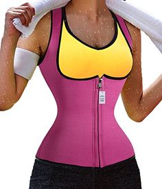 2ea71755a9 Slimming Neoprene Vest Hot Sweat Shirt Body Shapers for Weight Loss Womens  S Rose --