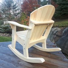 Adirondack Rocking Chair, Rocking Chair Plans, Adirondack Chair Plans, Outdoor Furniture Plans, Unique Furniture, Rocking Chairs, Patterned Chair, Patterned Sheets, Woodworking Projects Diy