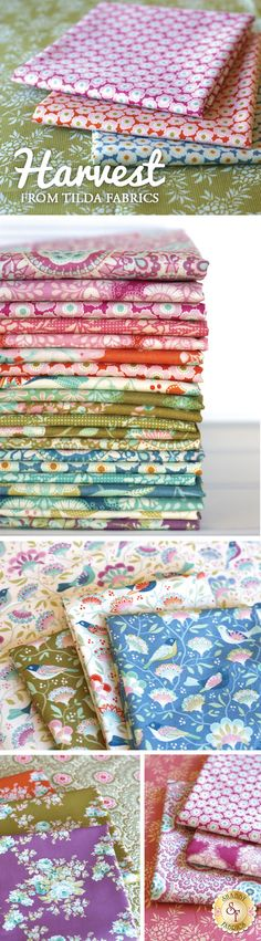 Harvest is a gorgeous modern floral collection by Tone Finnanger from Tilda available at Shabby Fabrics