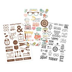 The Reset Girl Carpe Diem Planner (Simple Stories) – Clear Stickers – The Ink Road
