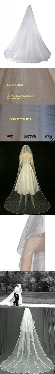 Shop Ginger Wedding Glimmer Diamond White 2 Tier Cathedral Swarovski Crystal Bridal Veil