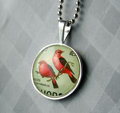 I like stamps made into jewelry