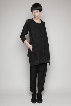 tunic dress, wool - y's by yohji yamamoto  | totokaelo