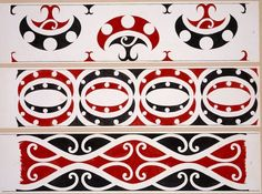 Williams, Herbert William 1860-1937 :Designs of ornamentation on Maori rafters. Nos. 10, 11, 12 [1890s]