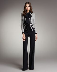 Structured sweater with all black business outfit