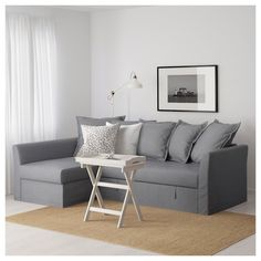 Queen sleeper sofa for gameroom HOLMSUND Sleeper sectional, Nordvalla medium gray - - - IKEA Ikea Sofa, Corner Sofa Bed, Sleeper Sectional, Furniture, Sofa, Sofa Bed With Chaise, Ikea Bed, Corner Sofa, Sofa Bed Frame