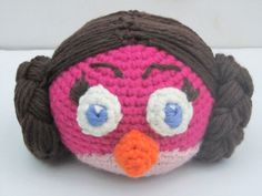 Angry Birds  Star Wars  Leia crochet doll / door PurpleOrchidsShoppe
