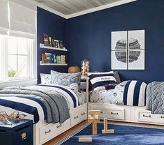 Find children's furniture that your kids will love for their room. Shop Pottery Barn Kids' furniture featuring beds and more in styles that will create the ultimate room. Shared Boys Rooms, Kids Bedroom Boys, Boys Bedroom Decor, Childrens Room Decor, Boys Room Ideas, Boys Bedroom Furniture, Kids Rooms, Boys Bedroom Ideas 8 Year Old, Boys Bedroom Colors