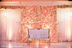 Romantic roses decoration the sweetheart stage. Debut Backdrop, Wedding Stage Backdrop, Wedding Hall Decorations, Wedding Stage Design, Engagement Decorations, Wedding Wall, Stage Backdrops, Invites Wedding, Debut Stage Decoration