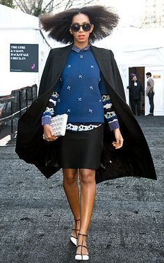 Solange Knowles at Noon by Noor fall 2014 show at Lincoln Center