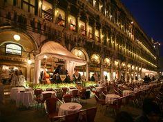 Romantic Dinner....Gran Caffé & Ristorante in St. Marks Square, Italy