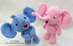 Free Crochet Pattern: Elephant Girl Amigurumi Doll Free crochet pattern for girl elephant! Free amigurumi pattern for elephant doll and dress. The pattern comes with clear instructions and photos. Crochet this little elephant for all your loved ones! Crochet Bear, Crochet Patterns Amigurumi, Cute Crochet, Crochet Animals, Crochet Crafts, Crochet Dolls, Crochet Projects, Amigurumi Tutorial, Crochet Tutorials