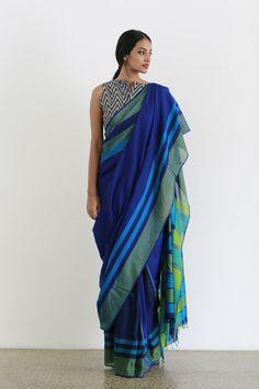 Green Ocean - Shipping From April -Order Now Designer Sarees Collection, Saree Collection, Book Collection, South Indian Bride Saree, Indian Sarees, Cotton Saree Blouse, Lace Saree, Organza Saree, Floral Blouse