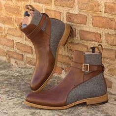 Handmade Leather Shoes, Brown Spots, Goodyear Welt, Jodhpur, Wedges, Leather Jacket, Pairs, Heels, Boots