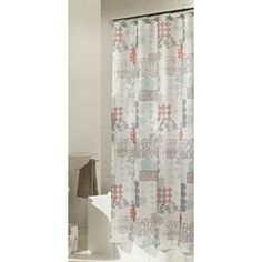 Baltic Linen Sienna Fabric Shower Curtain with Hook | $36.49