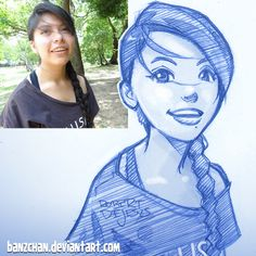 American artist Robert DeJesus continues to transform strangers' photos into anime versions of themselves and we thought it's high time to look at his new works Foto Cartoon, Photo To Cartoon, Cartoon Art, Cartoon Drawings Of People, Cartoon Sketches, Drawing People, Character Drawing, Character Illustration, Illustration Art