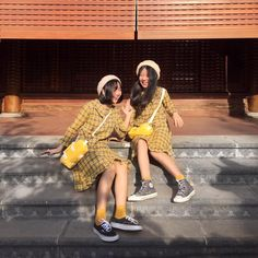 Jimin Selca, Besties, Bestfriends, Best Friend Photos, Korean Fashion Trends, Bff Pictures, Girl Short Hair, Best Friends Forever, Korean Girl