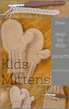 Kids Mittens | Haaknerd. Free photo toturial / crochet pattern