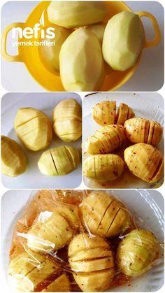 Fırın Poşetinde Yelpaze Patates