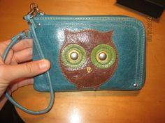 Fossil Owl Key Chain Wallet Pouch Change Purse Genuine Leather | eBay