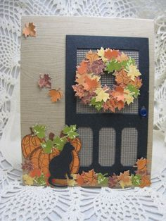 Another inspiration of a door I want to do with soap!!??##!!  Could imprint burlap as screen or better yet make a mold of burlap