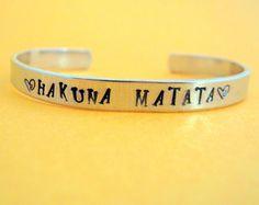 love this Hakuna Matata   Disney Lion King Bracelet  Hand by emerydrive, $12.50