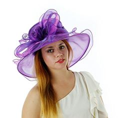 Sweet Tea Organza Derby Hat with Shimmering Bow (Purple) Greatlookz http://www.amazon.com/dp/B00IDALOCW/ref=cm_sw_r_pi_dp_82Wkvb1F454GB