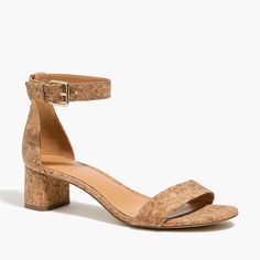 Shop J.Crew Factory for the Cork-heel sandals for Women. Find the best selection of Women Clothing available in-stores and online. Sandals Outfit, Women's Shoes Sandals, Heels, Leather Ballet Flats, Leather Loafers, Heeled Loafers, Heeled Mules, Chelsea Rain Boots, Shearling Slippers