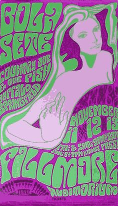Poster by Wes Wilson, 1966, Filmore auditorium.