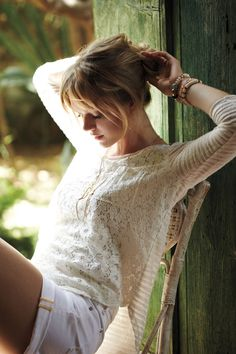Laceveiled Pullover - Anthropologie