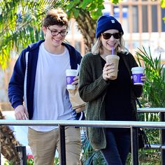 Star Tracks: Tuesday, February 3, 2015 | NEED A BOOST? | Order up! Emma Roberts and boyfriend Evan Peters take their coffees to-go in Los Angeles on Sunday.