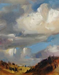 "Daily Paintworks - ""Big Sky"" - Original Fine Art for Sale - © Patti McNutt"