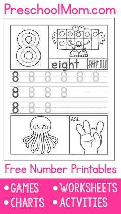 worksheets for numbers 11 through 20 | Kids/Learning | Pinterest ...