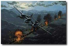 AVIATION ART HANGAR - Moonlighting by Stan Stokes (P-38)