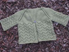 Summer Chills Cardigan (6/18 months) (US6/4mm) pattern by Danielle Reiner