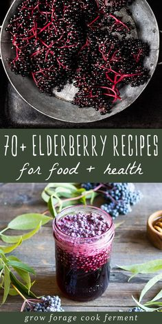 Elderberry Recipes & Remedies for Food & Health It's no secret that elderberries are a superfood with many undisputed health benefits! These tasty elderberry recipes will leave you with tons of ideas of how to use these immune-boosting wild berries. Elderberry Jam, Elderberry Recipes, Elderberry Benefits, Herbs For Health, Honey Recipes, Nutella Recipes, Wild Edibles, Medicinal Plants, Recipes