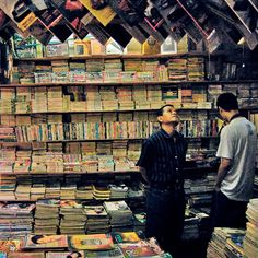 Used books vendor. They're so cheap. You would be surprise what you might find there.