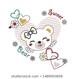 Find Funny Wild Bears Vector Cartoon Illustrations stock images in HD and millions of other royalty-free stock photos, illustrations and vectors in the Shutterstock collection. Bear Vector, Vector Art, Kids Girls Tops, Kids Sheets, Face Images, Bee Theme, Kids Prints, Animal Design, Doodle Art