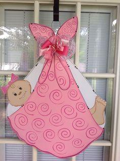 Baby door hanger new arrival hospital door hanger by samthecrafter, $37.00