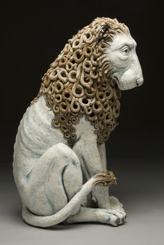 Seated Lion with Internal Woman - Adrian Arleo