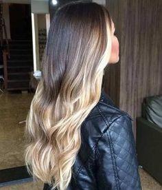 Vanilla Blonde Balayage Highlights on Long Hair
