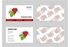 Wine industry business card template by Sunshine Art Shop on @creativemarket