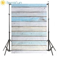 Sunsfun 3x5ft Light Blue Wood Wall Floor Backdrop Backgrounds Studio Photography Props HB111 #Affiliate