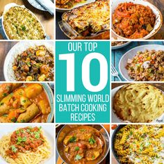Our Top 10 Batch Cooking Recipes - Pinch Of Nom Slimming Recipes Healthy Diet Recipes, Clean Eating Recipes, Healthy Cooking, Cooking Recipes, Easy Recipes, Group Recipes, Budget Recipes, Cooking Games, Batch Cooking Freezer