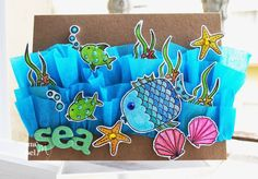 Scrapbooking tips, scrapbooking layouts ideas and much more from the online home for Creating Keepsakes magazine. Learn how to make gorgeous scrapbook pages and connect with other scrapbookers. Animal Crafts For Kids, Art For Kids, Sea Crafts, Paper Crafts, Creating Keepsakes, Ocean Themes, Summer Crafts, Art Plastique, Kids Cards