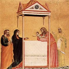 Giotto di Bondone (Italian artist, Presentation in the Temple Tempera on wood, 44 x 43 cm Isabella Stewart Gardner Museum, Boston Italian Painters, Italian Artist, Tempera, Jesus In The Temple, Gardner Museum, Late Middle Ages, Drawn Thread, Oil Painting Reproductions, Renaissance Art